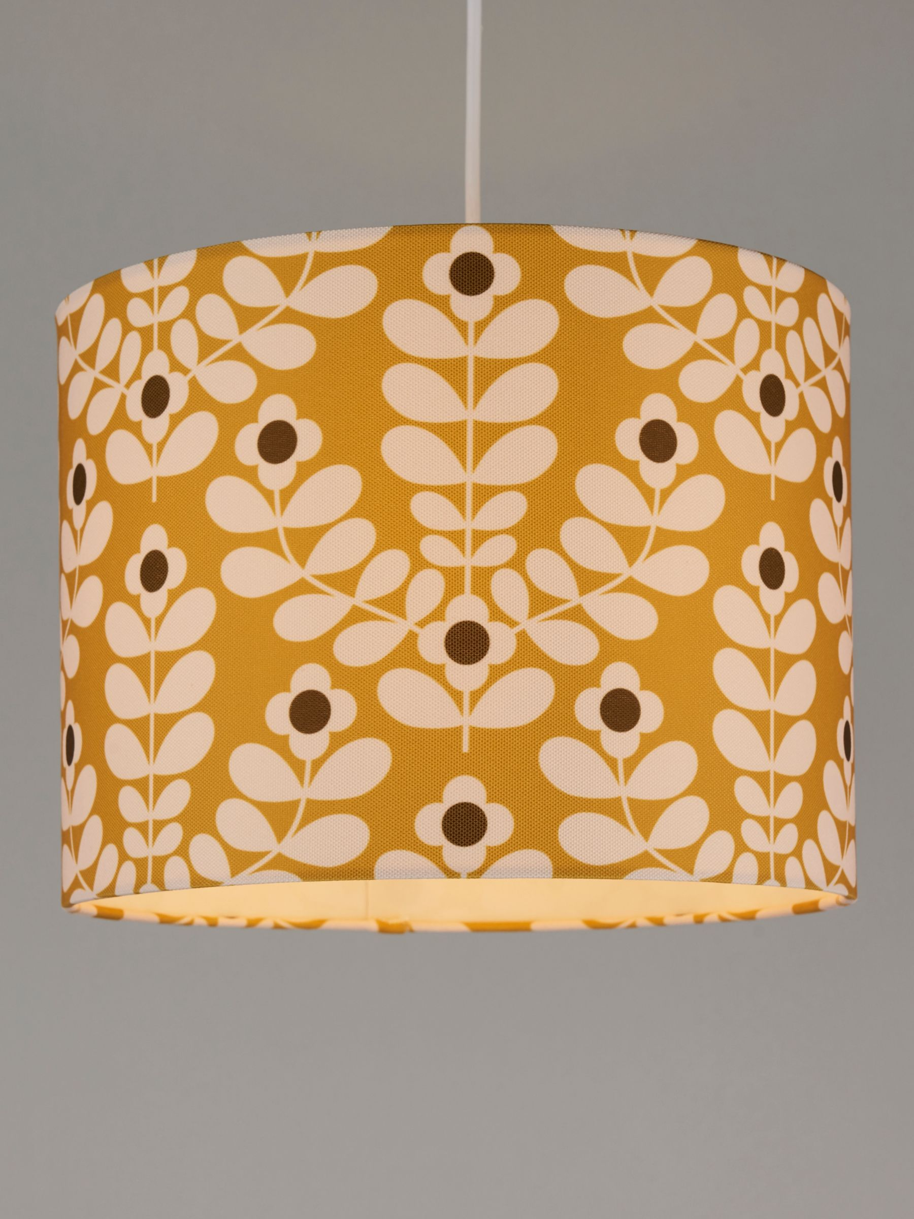 Orla Kiely Juniper Stem Lampshade, Yellow
