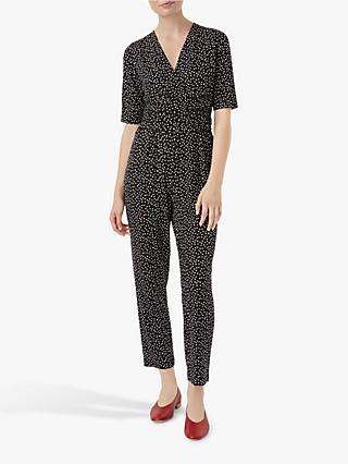 Hobbs Alycia Dot Jumpsuit, Black/White