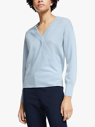 John Lewis & Partners Cashmere Wrap Sweater