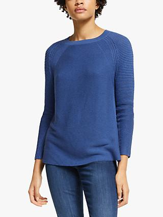 John Lewis & Partners Cotton Boat Neck Sweater