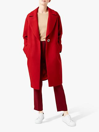 Hobbs Jane Wool Blend Coat, Deep Red
