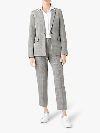 Hobbs Anthea Blazer Jacket, Black/Ivory
