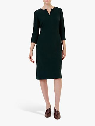 Hobbs Tailored Viviene Dress, Forest Green