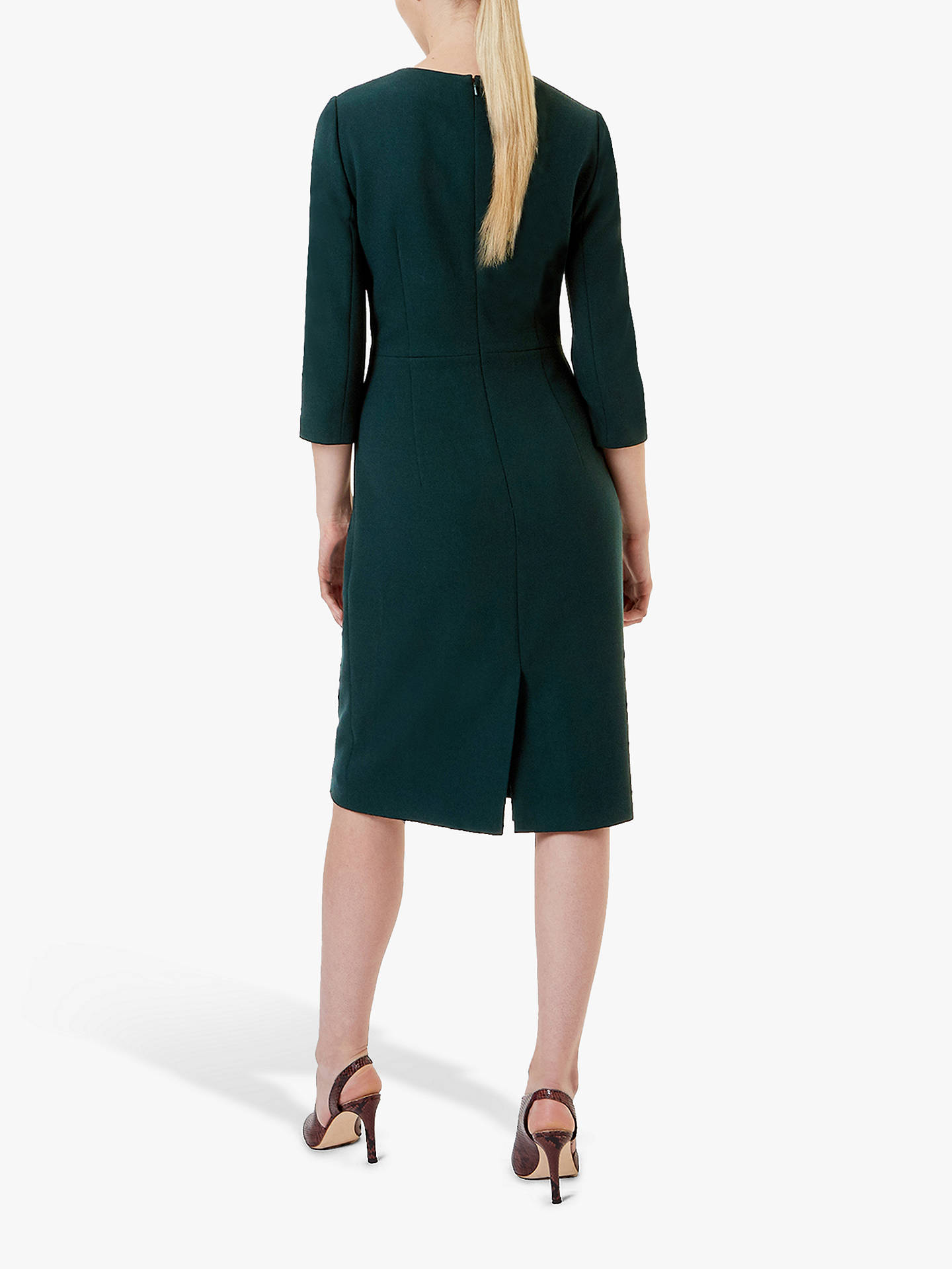 Buy Hobbs Tailored Viviene Dress, Forest Green, 6 Online at johnlewis.com