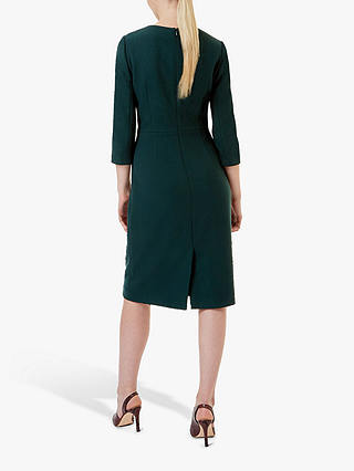 Buy Hobbs Tailored Viviene Dress, Forest Green, 10 Online at johnlewis.com