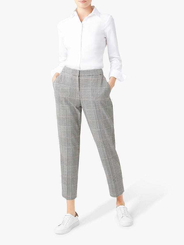Buy Hobbs Anthea Trousers, Black/Ivory, 16 Online at johnlewis.com