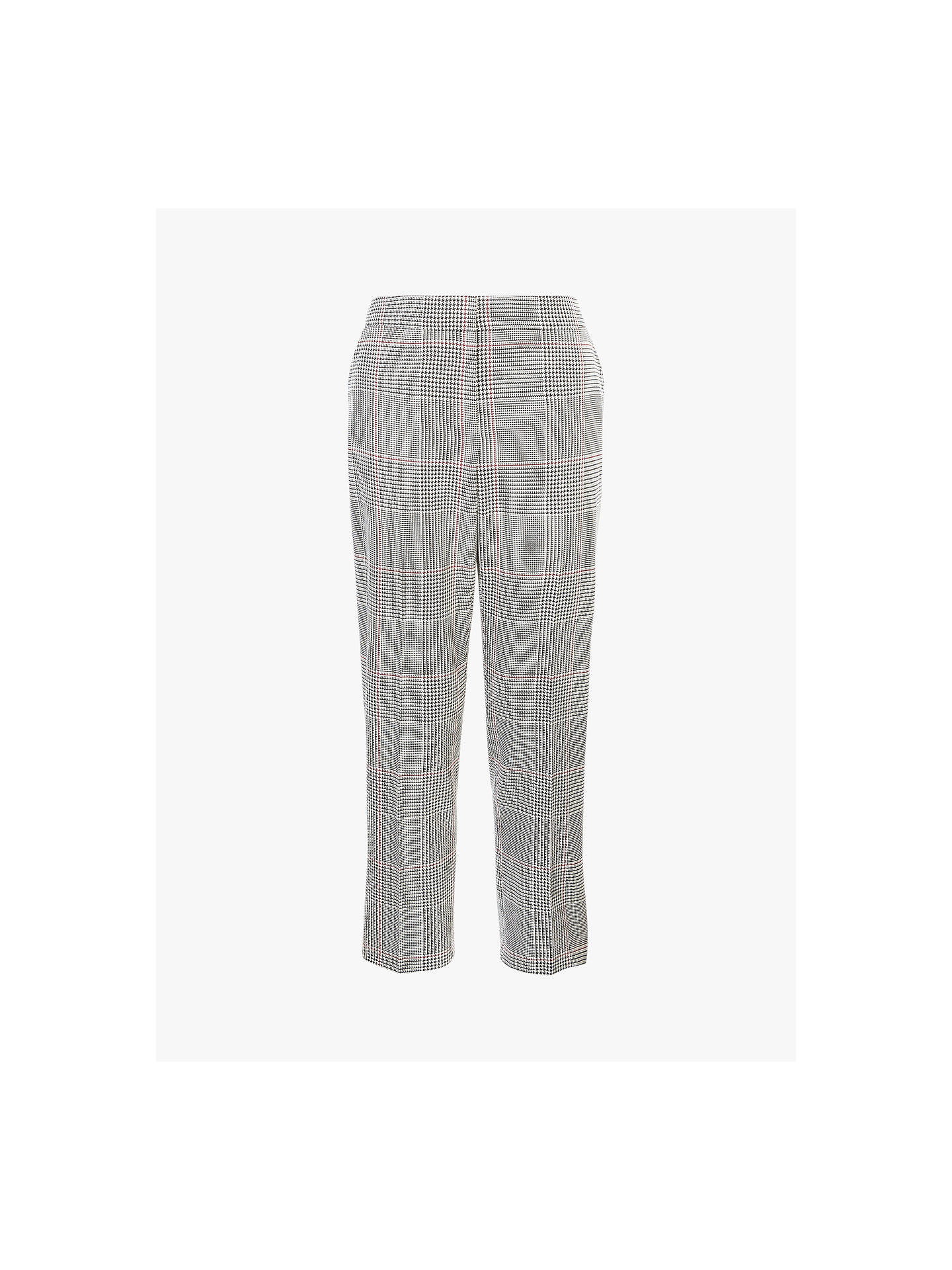 Buy Hobbs Anthea Trousers, Black/Ivory, 18 Online at johnlewis.com