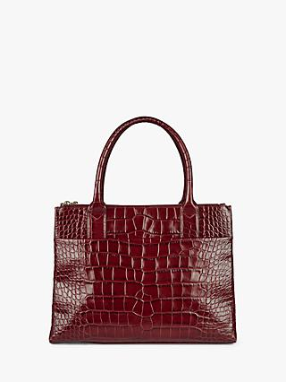 Hobbs Leather Crocodile Embossed Oxford Tote Bag
