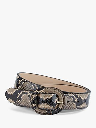 Hobbs Abbie Snake Slim Leather Belt, Multi