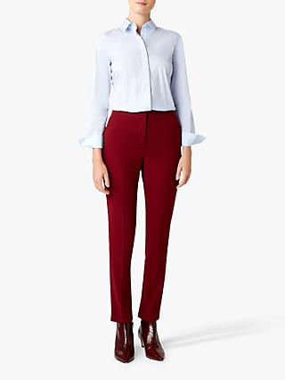 Hobbs Tamsin Tailored Trousers, Cranberry