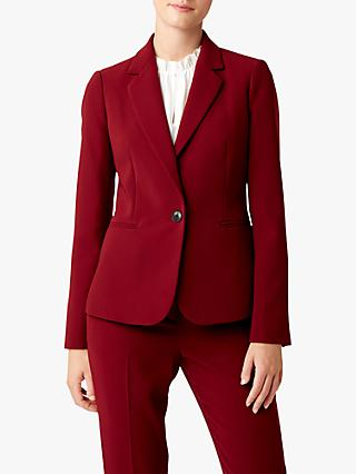 Hobbs Tamsin Tailored Blazer, Cranberry
