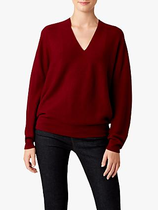 Hobbs Emma Knitted Jumper, Burgundy