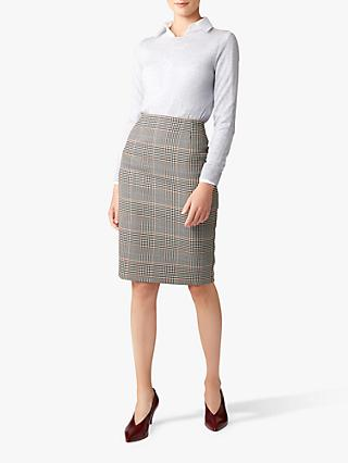 Hobbs Sofia Check Skirt, Multi