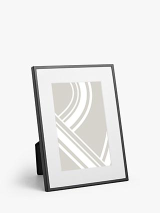 John Lewis & Partners Daya Photo Frame & Mount, Matt Black