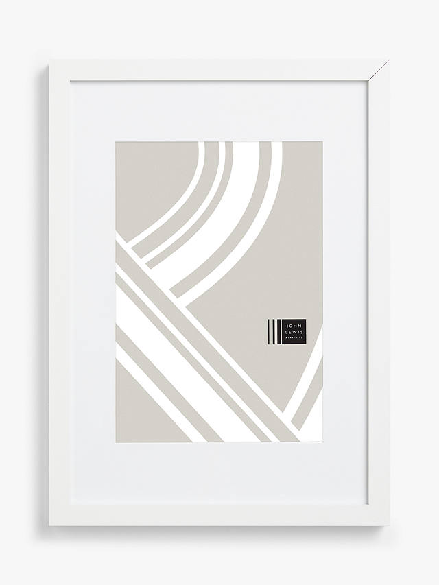 "Buy John Lewis & Partners Poster Frame & Mount, White, 11 x 15"" (30 x 40cm) Online at johnlewis.com"