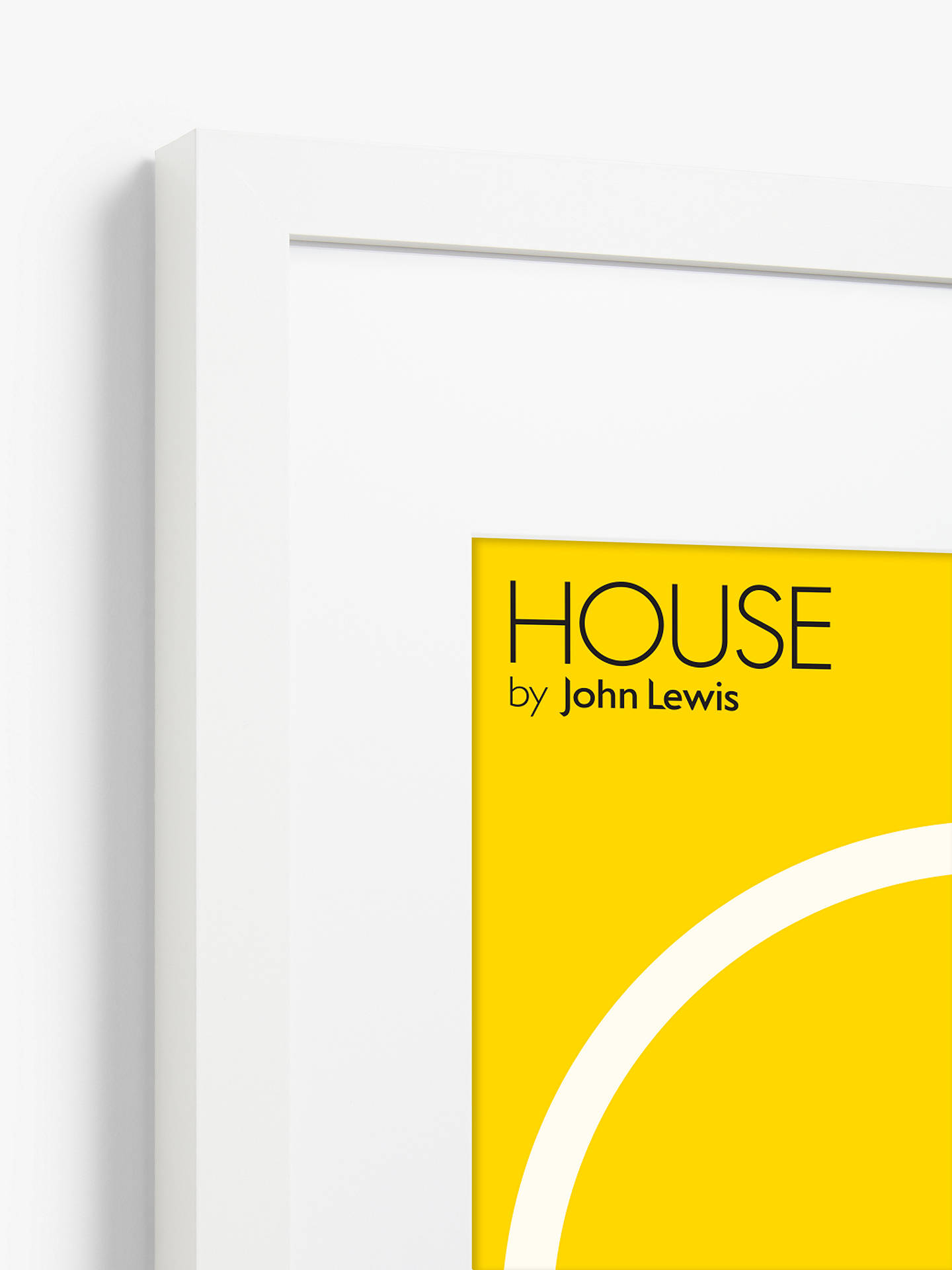 Buy House by John Lewis Poster Frame & Mount, White, A2 (42 x 60cm) Online at johnlewis.com