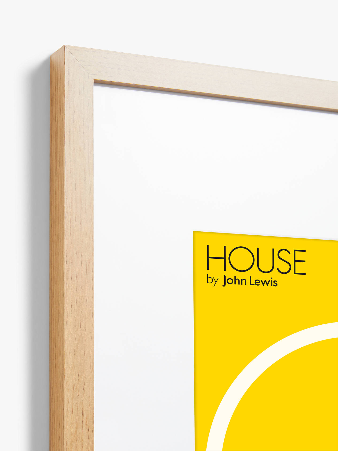 Buy House by John Lewis Poster Frame & Mount, Wood Effect, A1 (60 x 85cm) Online at johnlewis.com
