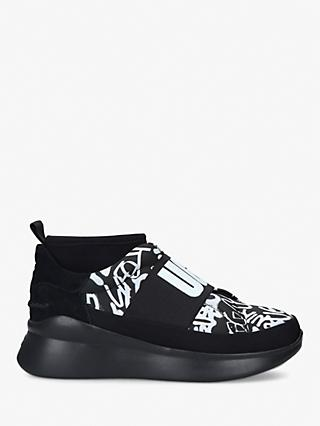 UGG Neutra Leather Pull On Trainers, Black/Multi