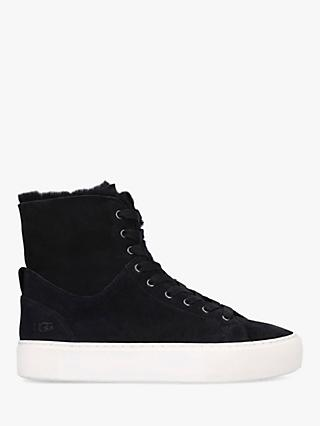 UGG Beven High Top Lace Up Trainers, Black