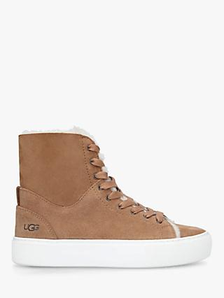 UGG Beven Suede High Top Trainers, Beige