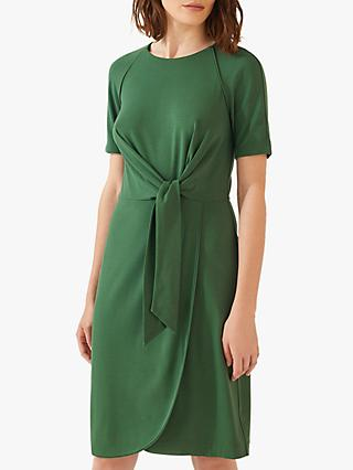 Jigsaw Knot Waist Jersey Dress, Emerald