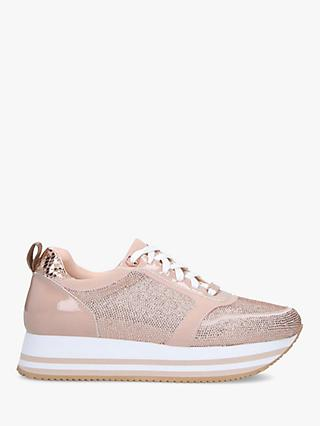 Carvela Langley Embellished Flatform Trainers