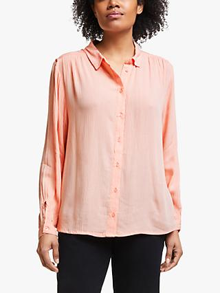 Collection WEEKEND by John Lewis Crinkle Boyfriend Shirt, Soft Pink