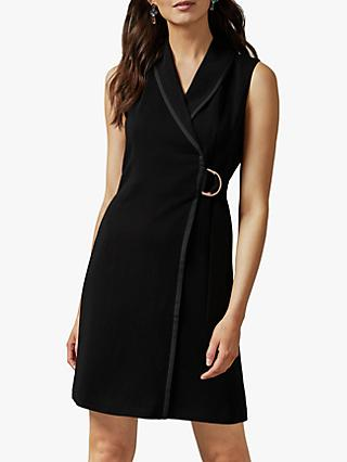 Ted Baker Adaard Tuxedo Mini Dress, Black
