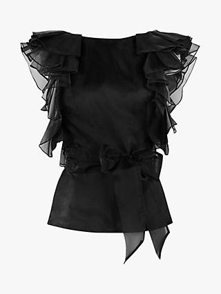 Coast Ruffle Organza Top, Black