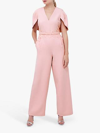 Coast Lace Belt Jumpsuit, Blush