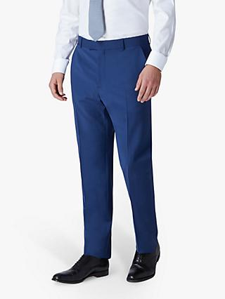 Jaeger Plain Motion Regular Fit Suit Trousers, Blue