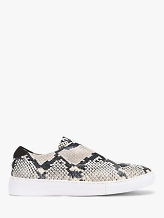 Mint Velvet Lila Snake Slip On Trainers, Multi