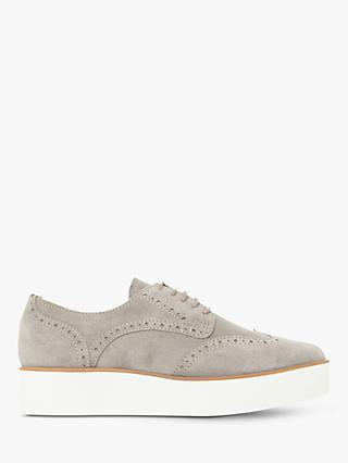 Dune Fraser Suede Lace Up Trainers, Grey