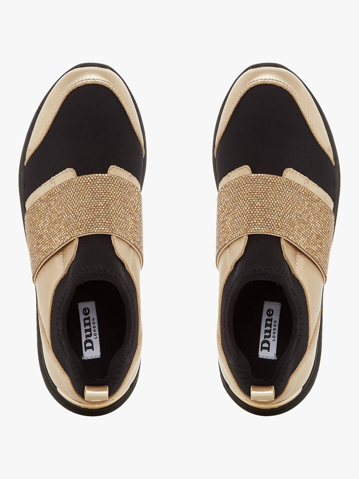 Buy Dune Excitable Slip On Trainers, Gold, 5 Online at johnlewis.com