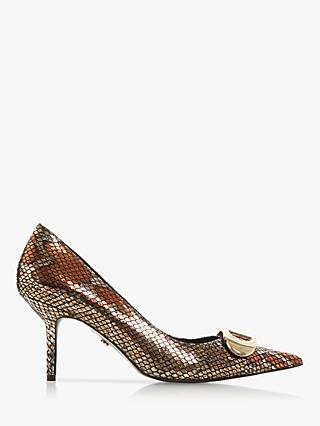 Dune Brioni 2 Stiletto Court Shoes, Reptile Print