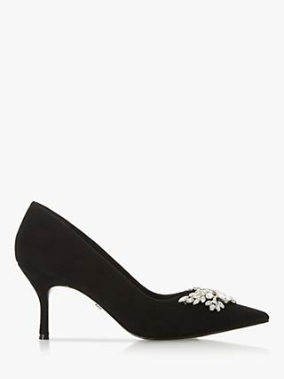Dune Bianca 2 Jewel Embellished Pointed Toe Court Shoes