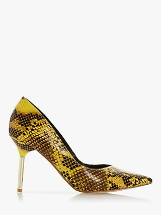 Dune Business Metal Heel V-Cut Court Shoes