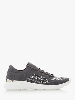 Dune Easy Lace Up Embellished Trainers