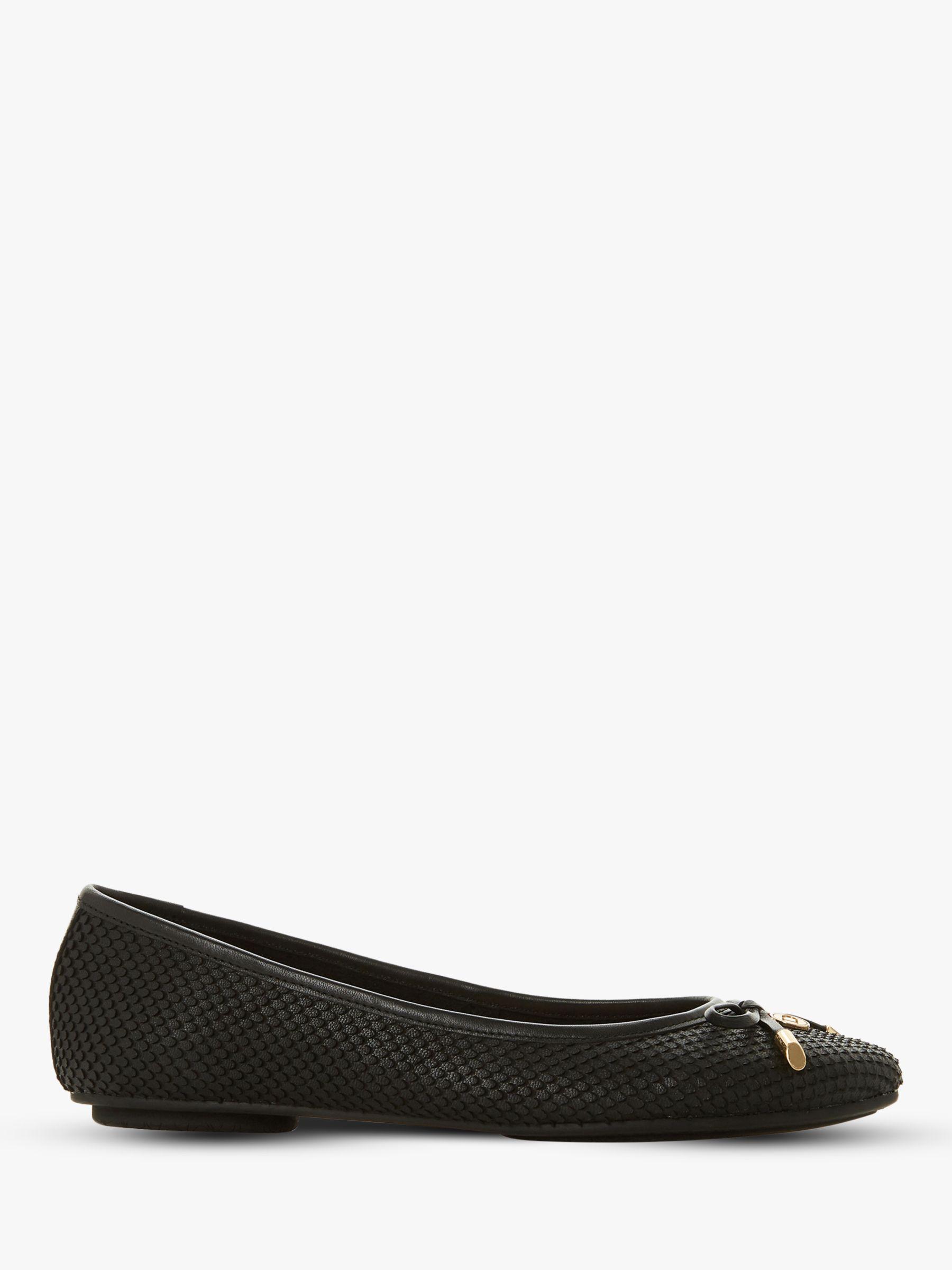 hot sale online ce451 10819 Dune Harpar Wide Fit Bow Detail Ballerina Pumps, Black