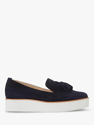 Dune Game Suede Slip On Loafers, Navy