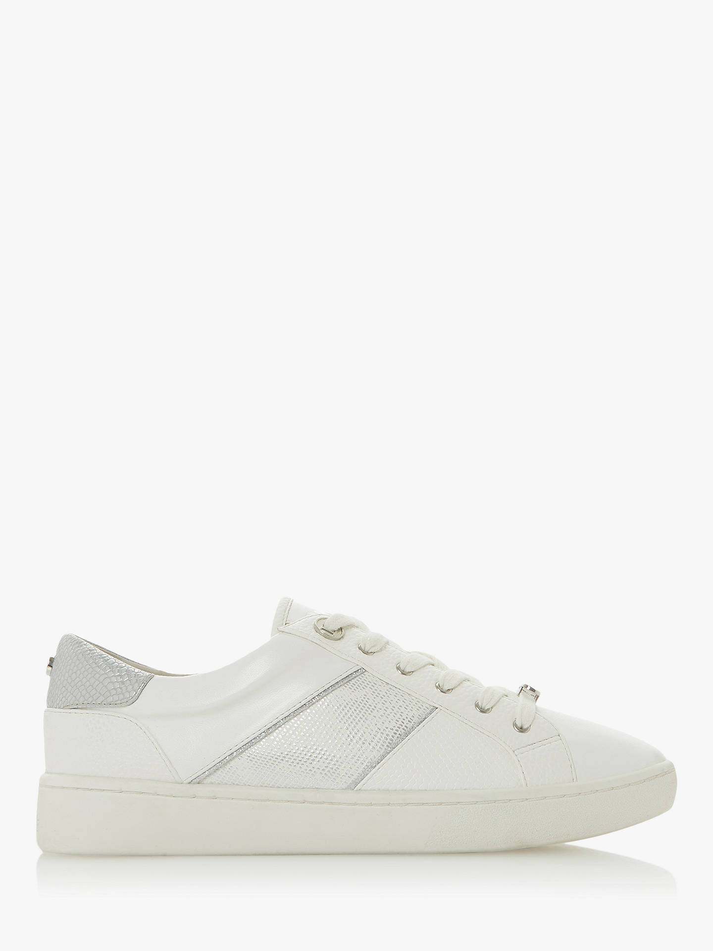 Buy Dune Everlee Panel Trainers, White, 6 Online at johnlewis.com