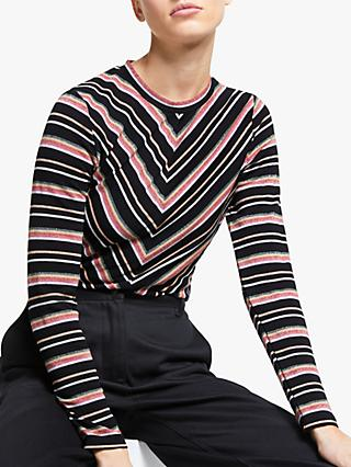 Numph Maximila Long Sleeve Top, Caviar