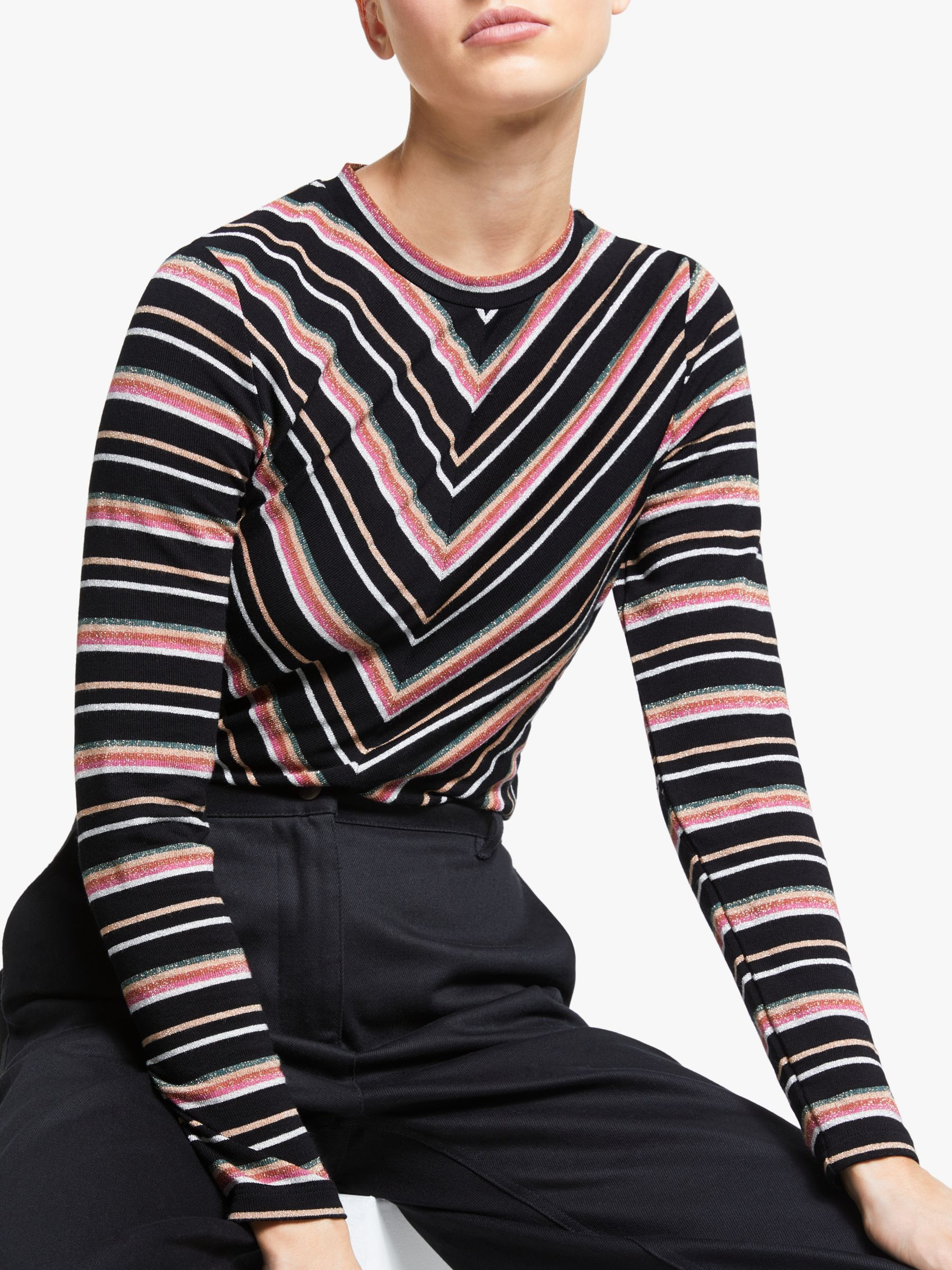 Numph Numph Maximila Long Sleeve Top, Caviar