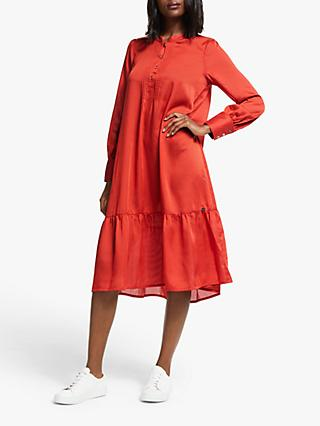 Numph Numascha Long Sleeve Dress, Red