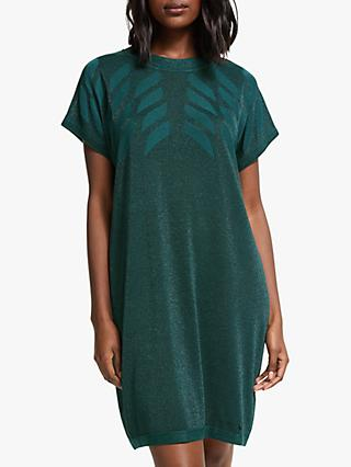 Numph Roseville Knitted Dress, Green