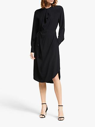 Modern Rarity Cowl Neck Side Slit Dress, Black