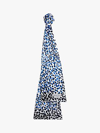 Jaeger Shadow Spot Silk Scarf, Blue/Multi