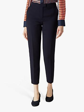Jaeger Panel Crepe Trousers, Navy