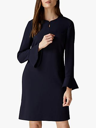 Jaeger Crepe Fluted Cuff Dress