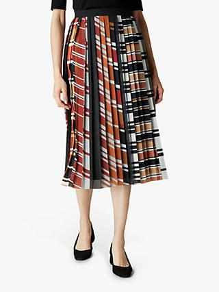 Jaeger Graphic Stripe Skirt, Multi